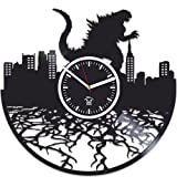 Godzilla Movies, Vinyl Wall Clock, Vinyl Record, Kovides, Godzilla Clock, Valentines Day Gift For Boy, Birthday Gift For Kids, Handmade Best Gift For Husband, Wall Clock Large, Valentines Day Gift