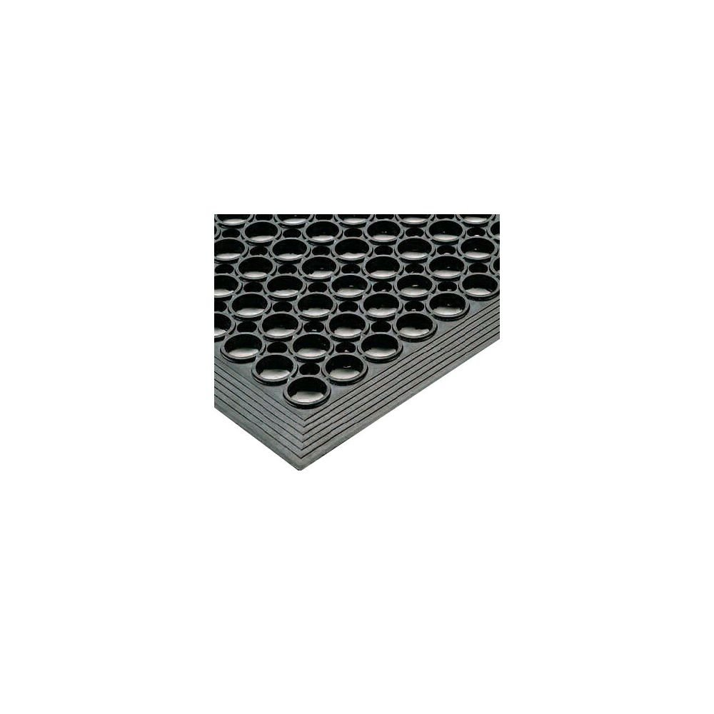 3 Width x 5 Length x 1//2 Thickness for Wet or Work Areas Black NoTrax T14 General Purpose Rubber Tek-Tough Jr Safety//Anti-fatigue Mat