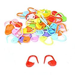 100Pcs/set Colorful Plastic Knitting Crochet Locking Stitch Markers Crochet Latch Knitting Tools Needle Clip Hook FBA