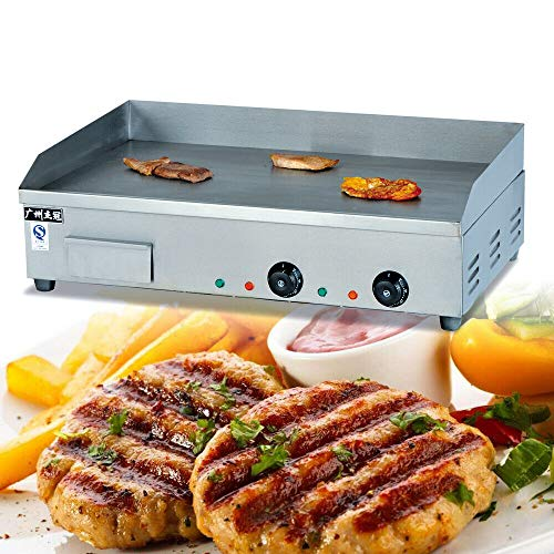 NOPTEG Electric Griddle Grill Machine, 4400W 110V Electric Flat plate griddle Multifunction Commercial Grill Hand cake baking machine Double Temperature Control CE (72.7x40CM) by NOPTEG (Image #2)