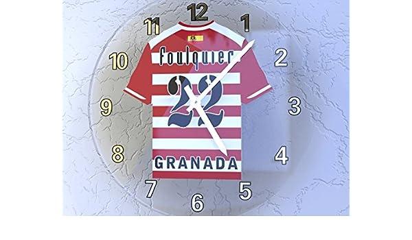 La Liga - Español camiseta de fútbol relojes de pared - cualquier nombre, cualquier número, cualquier equipo - personalización gratuita., hombre, GRANADA ...
