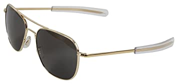 Amazon.com  Rothco 55mm AO Original Pilot Sunglasses CE in Gold ... 8fc226a0b9d