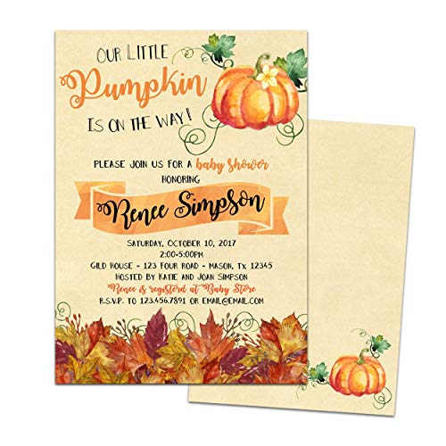 Pumpkin Baby Shower Invitations Fall In Love Invites
