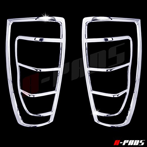 A-PADS 2 Chrome Tail Light Covers for Chevy AVALANCHE 2002-2006 - Bezel Rear Lights Taillight Cover
