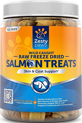 Pure Wild Alaskan Salmon Oil for Dogs & Cats – Supports Joint Function, Immune & Heart Health – Omega 3 Liquid Food Supplement for Pets – All Natural EPA + DHA Fatty Acids for Skin & Coat