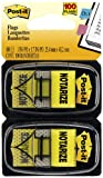 """Post-it Message Flags, """"Notarize"""", Yellow, 1-Inch Wide, 50/Dispenser, 2-Dispensers/Pack"""