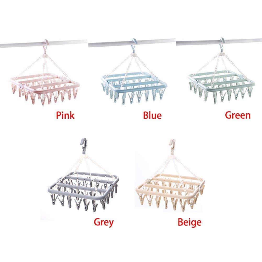 Calcetines Queta Perchas de pl/ástico para Ropa Ropa de beb/é con 32 Pinzas para Colgar Guantes