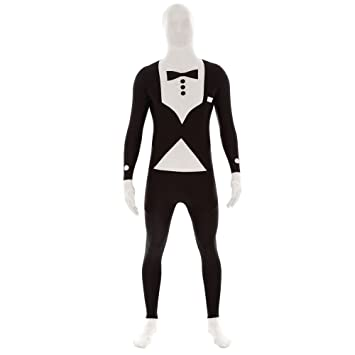 Agent Secret Smoking morphsuit Costume Second Skin: Amazon ...