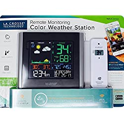 LA CROSSE Remote Monitoring Color Weather Station Black