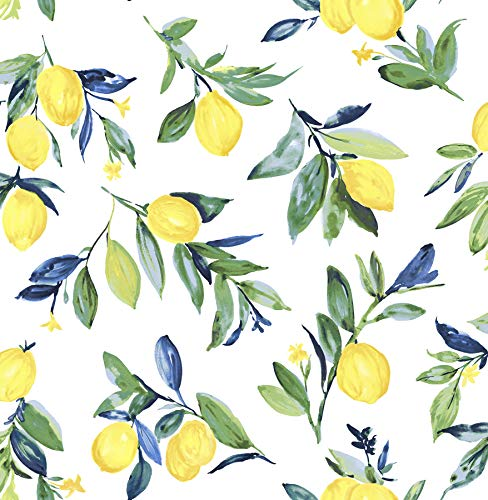 NuWallpaper NUS3161 Lemon Drop Yellow Peel & Stick Peel and Stick Wallpaper,