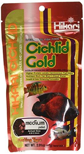 HIKARI 2-Ounce Cichlid Gold Floating Pellets for Pets, Medium