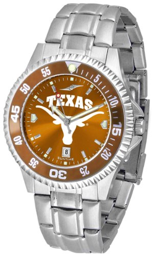 Competitor Steel Anochrome Watch - Texas Longhorns Competitor Steel AnoChrome Color Bezel Men's Watch