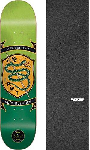 比率延ばすやりすぎブラインドスケートボードCody McEntireバッジグリーン/オレンジスケートボードデッキ樹脂7 – 8