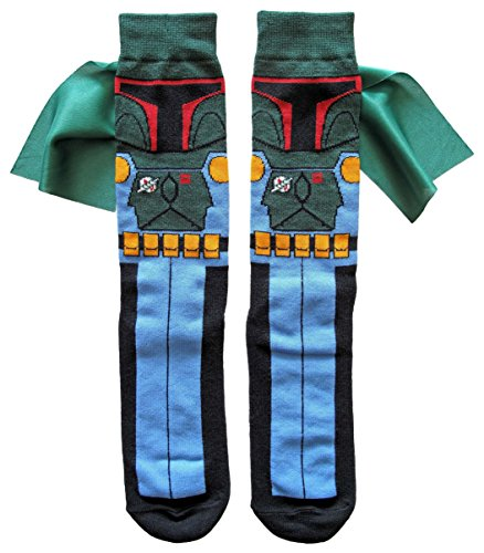 Hyp Star Wars Boba Fett Caped Men's Crew Socks Shoe Size 6-12 (Boba -