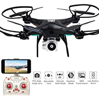 Gbell Remote-Controlled Aircraft, Wide Angle Lens HD Camera Quadcopter RC Drone WiFi FPV Live Helicopter Hover For Child&Adults