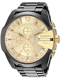 Men's 'Mega Chief' Quartz Stainless-Steel-Plated Watch, Color:Black (Model: DZ4485)