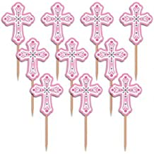 Pink Religious Party Picks - 36 ct