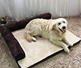 Large Sofa Pet Bed for Large Dogs Removable Large Dog Bed (XL, Deep Coffee)