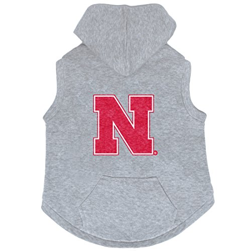 NCAA Nebraska Cornhuskers Pet Hooded Crewneck, Medium