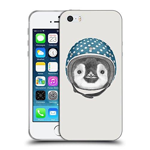 GoGoMobile Coque de Protection TPU Silicone Case pour // Q05320631 Casque pingouin Platine // Apple iPhone 5 5S 5G SE