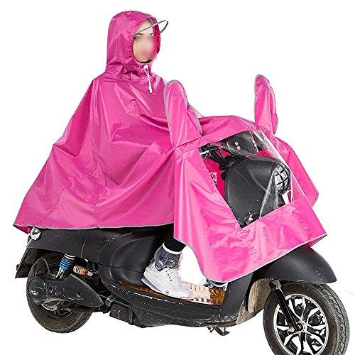 Adulto Adulto Puro Impermeabile Impermeabile Giovane Moda Antipioggia Elegante Casual Ragazze Pioggia Giacca Giacca Opaco Colore Pink Pioggia Poncho Incappucciato Poncho dBW74Tcd