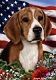 Beagle – Best of Breed Patriotic Large Flags