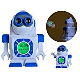 """Itian Projection Clocks, Kids LED Electronic Alarm Clock Projector, 7"""" Robot Digit Time Projection Lamps Lights ,Portable Bedside Clock Best gift for Children"""
