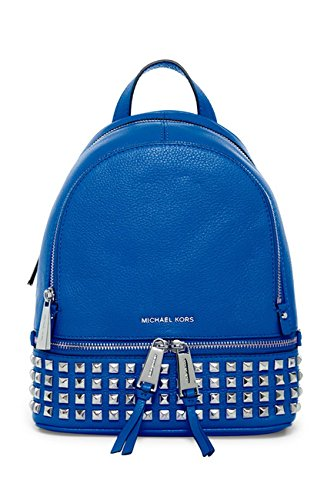 4a3b0598fead MICHAEL Michael Kors  Extra Small Rhea Zip  Leather Studded Backpack ...