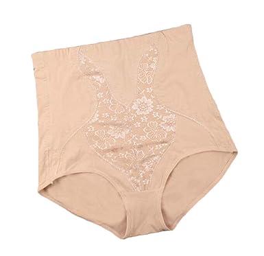 3a73526b9 VaeJY Women High Waisted Plus Size Cotton Shapewear Tummy Control Briefs  Panties Skin Color 3X-