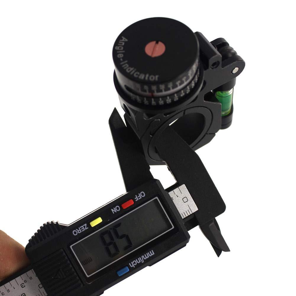 Port/ée Niveau Montage Indicateur dangle en Plastique Durable Degr/é ADI//ACI Niveau /À Bulle pour La Vue 25.4mm // 30mm Tube Installation C/ôt/é Gauche