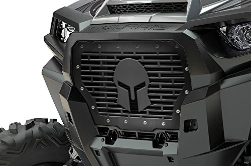 (300 Industries Steel Grille Replacement for Polaris RZR 1000 XP Turbo 2017-2018 - Single Piece Powder Coated Satin Black - Spartan)