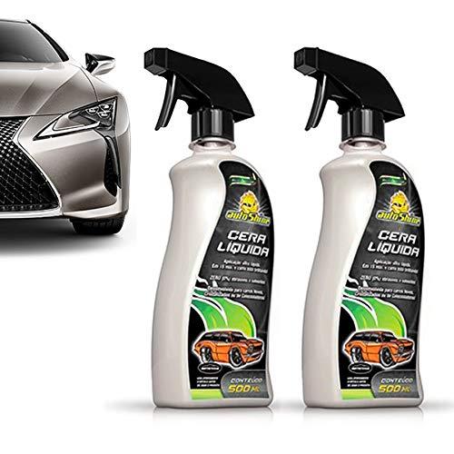 Kit 2 Cera Líquida Carnaúba Cristalizadora Spray BTS Autoshine Premium
