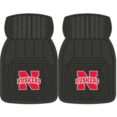 NCAA 4-Piece Front #36572582 and Rear #19888850 Heavy-Duty Vinyl Car Mat Set, University of Nebraska by Sports Licensing Solutions LLC
