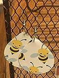 Bee Earrings/Paper Earrings/Teacher Earrings