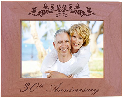 CustomGiftsNow 30th Anniversary - Wood Picture Frame - Fits 5x7 Inch Picture ()