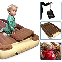 Bambino Bed – Inflatable Toddler Bed with Inflatable Rails - Portable Travel Bed – Blow Up Kids Bed Mattress - Crib Sheet Fits Around Inner Inflatable - BONUS Electric Pump and Inflatable Pillow