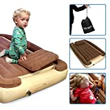 EasyGoProducts Let Your Kids be Cozy and Safe Travel Whether This Bambino Used at Home Portable Growing Toddler Bed with Inflatable Rails