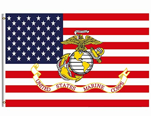 Wamika US Marines Corps Flag 3x5 FT Brass Grommets Breeze Do