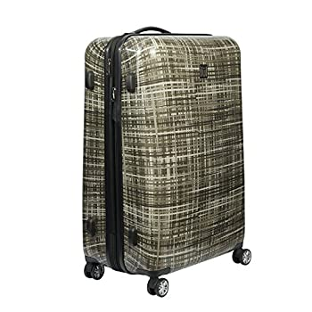 Image of Luggage ful Luggage Woven 28 Inch Expandable Spinner Rolling Luggage Suitcase, Hard Case, Gray
