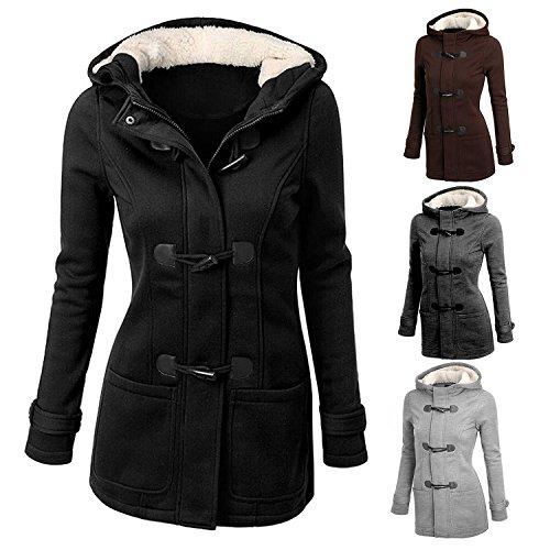 Moda mujer chaqueta outwear abrigo chaqueta parka larga de lana caliente de Slim Café