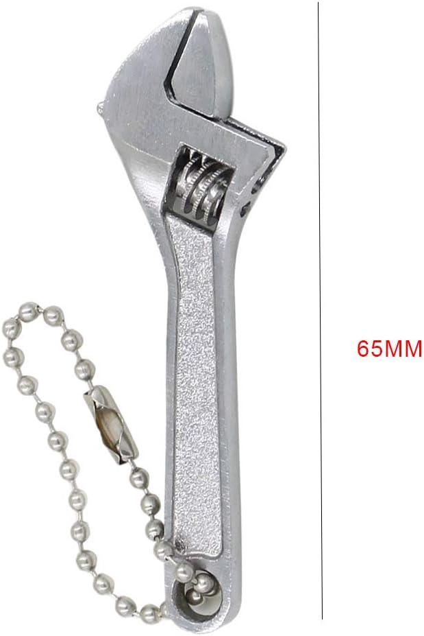 68 Millimetri Regolabile Spanner Mini Acciaio Dado Chiavi Strumenti Flessibile capacit/à Ganasce 10 Millimetri Argento Lorsoul 2,5 Pollici