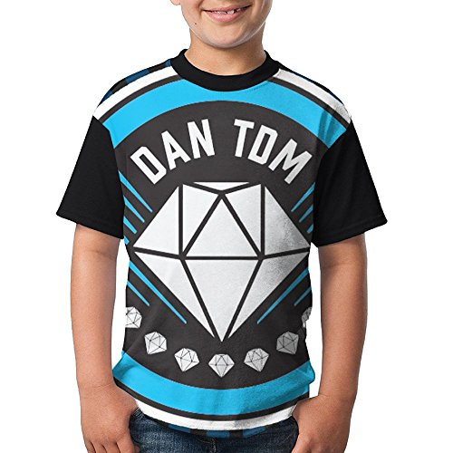 DanTDM Dan TDM 2018 New Style Comfy T-Shirt Short Sleeve Tops for Kids Youth Boys and Girls by AOOIUU