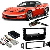 Fits Chevy Corvette 2005-2013 Single DIN Harness Radio Install Dash Kit