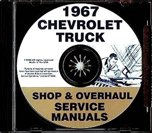 STEP-BY-STEP 1967 CHEVROLET PICKUP, VAN & TRUCK FACTORY REPAIR SHOP & SERVICE MANUAL CD INCLUDES: BLAZER, SUBURBAN, 10-60 SERIES, ½ ton, ¾ ton & 1 ton Pickup, Van, Motorhome Chassis