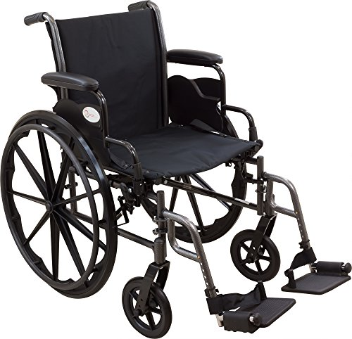 Roscoe Medical W32016S Reliance III Wheelchair with Swing Away Footrests, 20