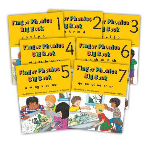 Finger Phonic Big Books: In Percursive Letters (Jolly Phonics) Set 1-7 (Books 1-7)