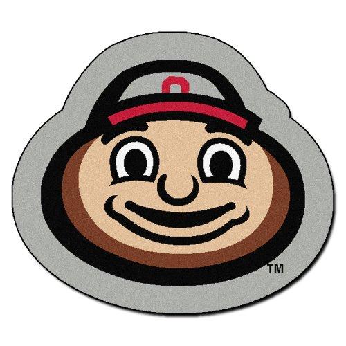 FANMATS NCAA Ohio State University Buckeyes Nylon Face Mascot Rug