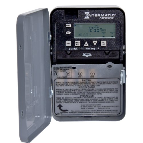 Intermatic ET8015C 7-Day 30-Amp SPST Electronic Astronomic Time Switch, 120-277 VAC, NEMA ()