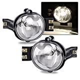 Fit For 02-08 Dodge Ram 1500/03-09 Dodge ram 2500 ram 3500/04-06 Dodge Durango OE Clear Fog Lights Pair+Bulb Driver and Passenger Side Driving Lamps