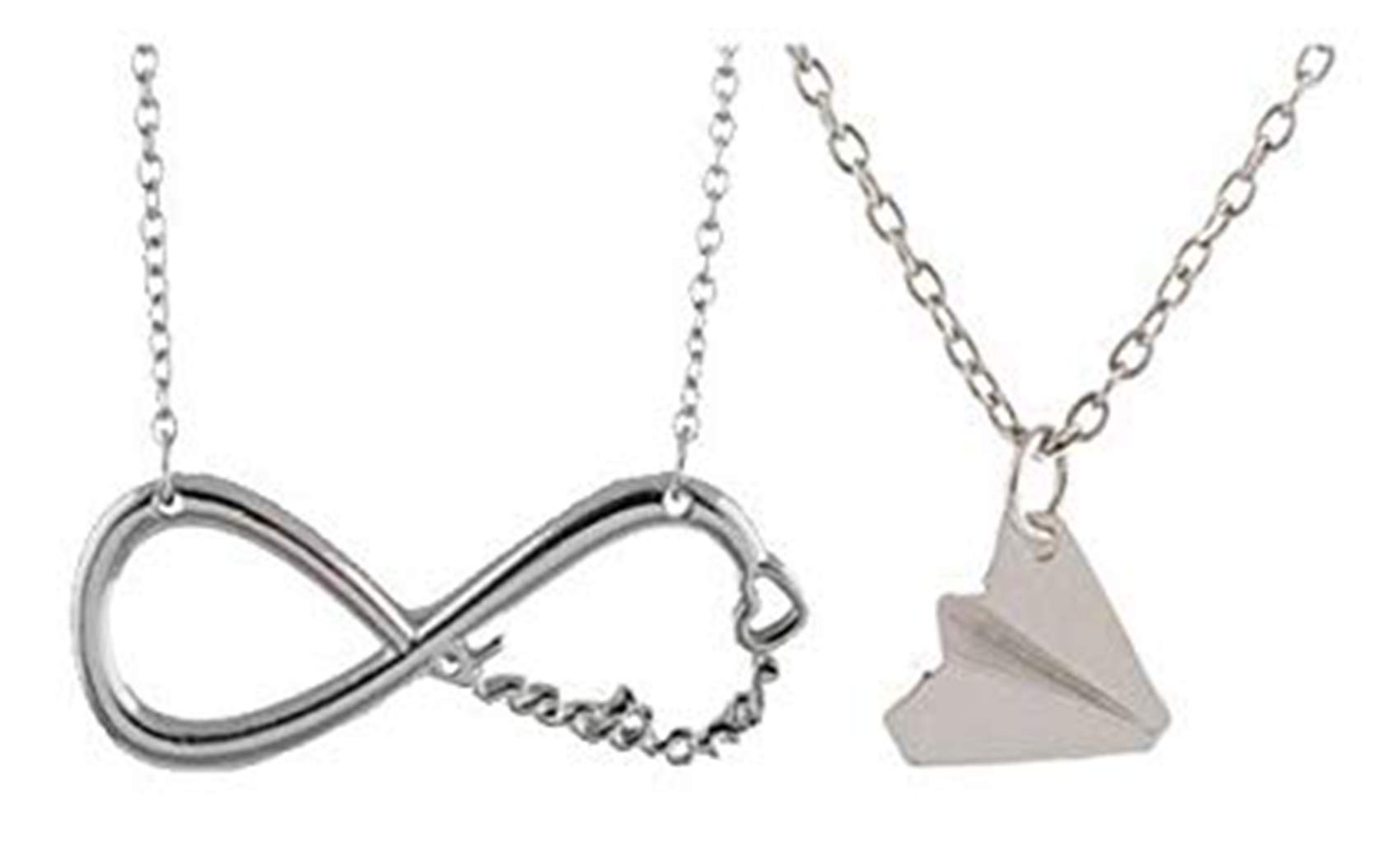 One Direction Twin Pack. Harry Paper Plane and Infinity Necklace Chains